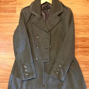 Forever 21 Winter Military Peacoat Style Wool Coat
